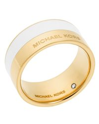 Michael Kors - White Color Block Ring - Lyst