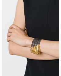 Iosselliani - Metallic 'black Hole Sun' Bracelet - Lyst