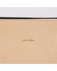 Paul Smith | Brown Women's Taupe And White Calf Leather Pochette | Lyst