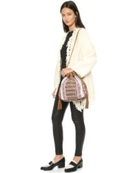 Shashi - Hailey Bucket Bag - Natural - Lyst