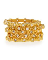 Freida Rothman | Metallic Set Of Five Round & Marquis Cz Stackable Rings | Lyst
