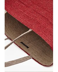 French Connection - Red Macaua Straw Basket Tote - Lyst