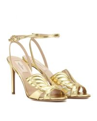Valentino - Angelicouture Metallic Leather Sandals - Lyst
