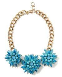 Banana Republic   Blue Elizabeth Cole Golden Glow Floral Necklace   Lyst