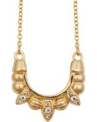 Pamela Love - Metallic Mini Tribal Spike Gold-Plated Topaz Necklace - Lyst