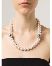 Lanvin - Black Pearl Necklace - Lyst