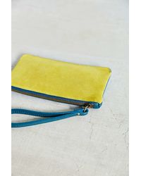 Urban Outfitters - Yellow Simple Suede Contrast Wristlet - Lyst
