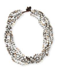 Eskandar | Natural Tear Of Virgin Mary Six-strand Necklace | Lyst