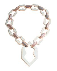 Eddie Borgo | Metallic Peaked Rose Gold Plated Link Necklace | Lyst