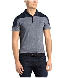 BOSS Green - Blue 'pavotech' | Slim Fit, Tech Jersey Colorblock Polo for Men - Lyst
