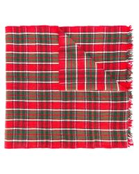 Polo Ralph Lauren - Red Checked Scarf - Lyst
