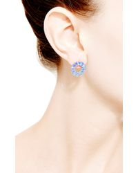 Dana Rebecca | Anna Beth Diamond and Blue Topaz Earrings in 14k White Gold | Lyst