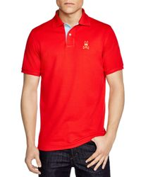 Psycho Bunny | Red St. Bart's Gold Bunny Polo - Regular Fit for Men | Lyst