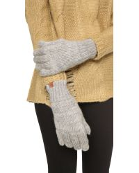 Bickley + Mitchell | Gray Knit Gloves | Lyst
