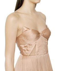 Maria Lucia Hohan - Natural Plisse Silk Tulle Bustier Dress - Lyst
