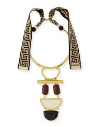 Lizzie Fortunato - Black Tribal Column Necklace - Lyst