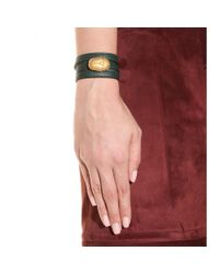 Valentino | Green Scarab Leather Wrap Bracelet | Lyst