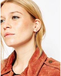 ASOS | Metallic Fine Double Long Spike Swing Earrings | Lyst