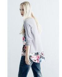 Warehouse - Multicolor Curve Hem Floral Jumper - Lyst