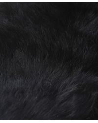 Yves Salomon - Black Fur Loop Scarf - Lyst
