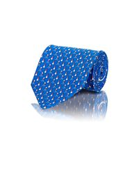 Ferragamo | Blue Men's Sailboat & Lighthouse Twill Necktie for Men | Lyst