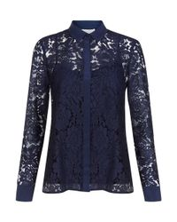 Hobbs | Blue Maddie Lace Shirt | Lyst