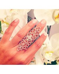 Anne Sisteron   Metallic 14kt Rose Gold Diamond Bourgeois Ring   Lyst