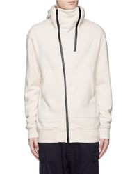 NLST - White Double Zip Front Hoodie for Men - Lyst