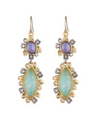Alexis Bittar - Multicolor Two-tone Double-drop Crystal Earrings - Lyst