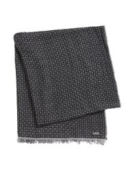 BOSS | Black Scarf In Viscose Blend: 'punito' for Men | Lyst