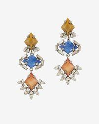 DANNIJO | Multicolor Dayna Triple Stone Drop Earrings | Lyst