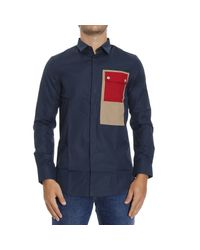 Iceberg - Blue Shirt for Men - Lyst