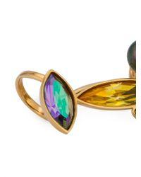 Ca&Lou | Metallic Crystal Earrings | Lyst
