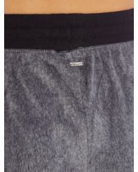 DKNY - Gray Fleece Cuffed Pant - Lyst