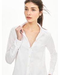 Banana Republic - White Trapeze Knit Shirt - Lyst