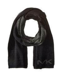 MICHAEL Michael Kors - Black Placement Logo Muffler for Men - Lyst