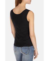 Karen Millen | Black Essential Rib Vest | Lyst