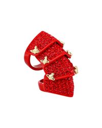 Vivienne Westwood | Red Resin Pave Armour Ring | Lyst