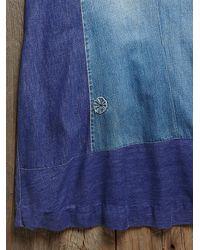 Free People - Blue Vintage Levis Patchwork Skirt - Lyst