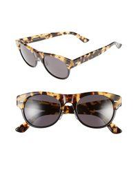 66eb459dc7 Lyst - Gucci 51mm Retro Sunglasses - Blond Havana  Dark Grey in Gray ...