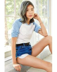 Camp Collection - Blue & Uo Number 76 Raglan Tee - Lyst