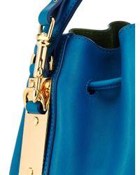 Sophie Hulme - Blue Mini Leather Bucket Bag - Lyst