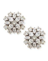 Paul Morelli - Metallic 18k White Gold Diamond Cluster Stud Earrings - Lyst