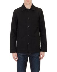 Saturdays NYC - Black Clayton Chore Jacket for Men - Lyst