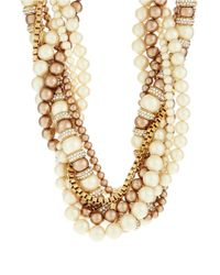 kate spade new york | Natural Parlour Faux Pearl Twisted Statement Necklace | Lyst