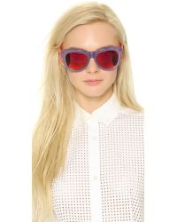 Markus Lupfer   Purple Revo Sunglasses - Lilac/orange   Lyst