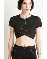 Forever 21 | Metallic Collar Body Chain | Lyst