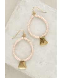 Anthropologie | Pink Chine Hoops | Lyst