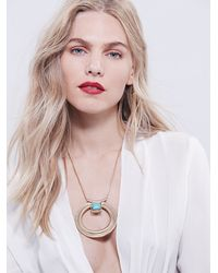 Free People - Metallic Andress Pendant - Lyst