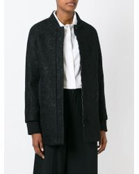 Amen - Black Cotton-Blend Zip Jacket - Lyst